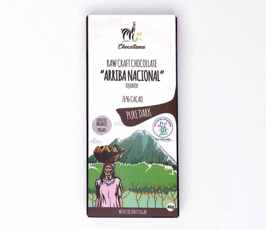 Chocollama Pure Dark organska crna čokolada