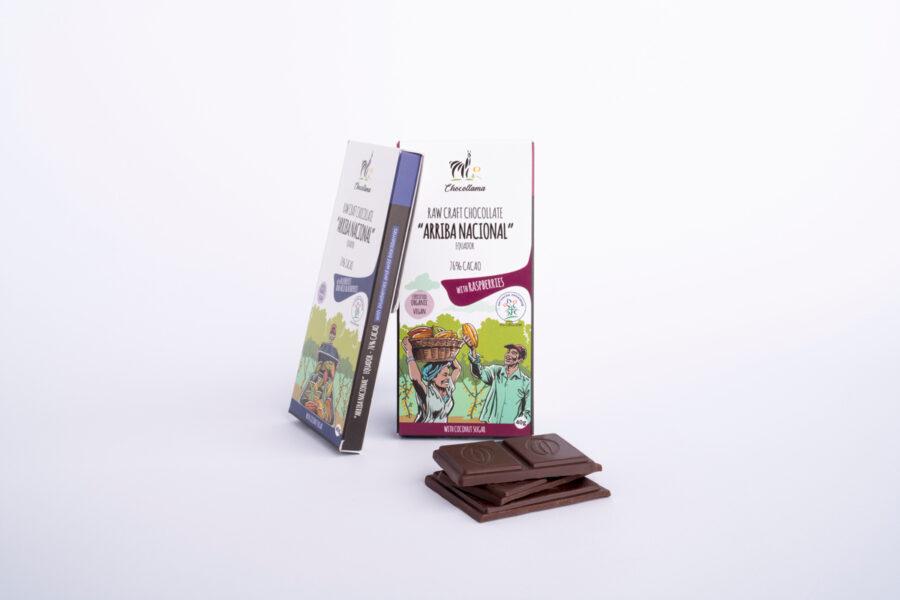 Chocollama organska čokolada landing